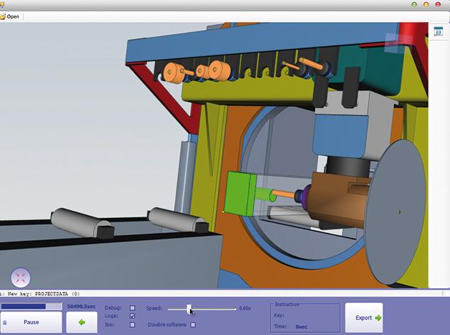 自社CAM 3Dシミュレーション
